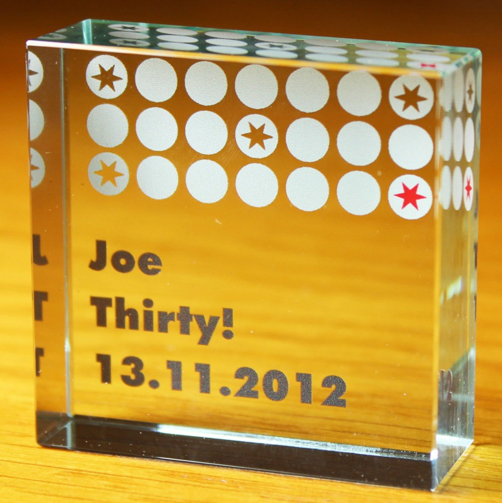 3d Laser Engraving Solid Glass Blank Block For Decoration