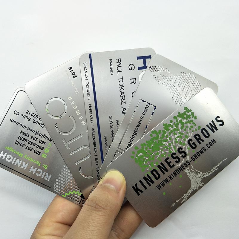 metal business card,100 Pieces, Silver,rose golden,black,copper,steel etc