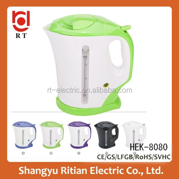 High Quality 1.7 litre Cordless PP Plastic electric Kettle