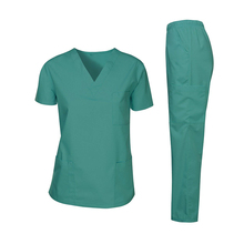 Commercio all'ingrosso Naturale Medico Infermiere Uniformi Scrub cherokee <span class=keywords><strong>Set</strong></span>-Scrub Medica Top e Pantalone