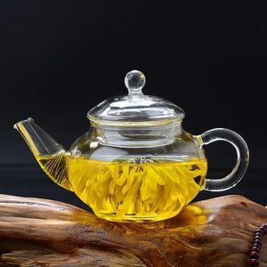 2018 Hot Sale Clear Glass Teapot 200ML , Blooming Tea Pot with Infuser