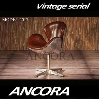 new aviation arne jacobsen swan chair vintage brown leather