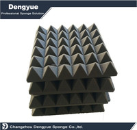 2016 high density studio soundproofing Pyramid acoustic foam
