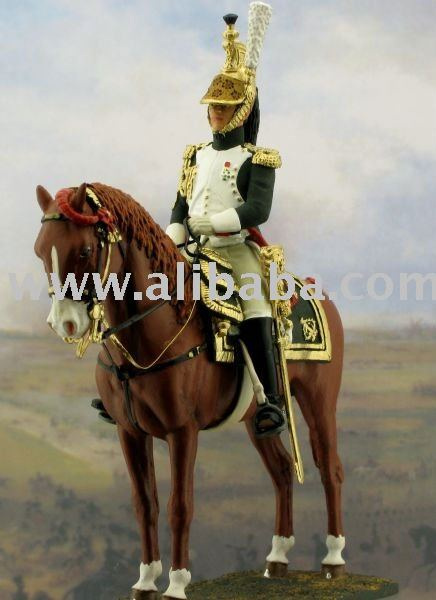Tin toy soldier with horse for collectors