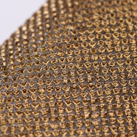 AAA Quality SS6.5 Glass Rhinestone Net Mesh 2mm Crystal Hot Fix Rhinestone Sheet
