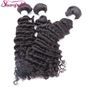 Wholesale remy deep wave hair extensions virgin cuticle aligned deep curl human hair in hair make you more beautiful