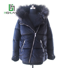 hot sale black pleuche fabric coat faux fur lining winter coat hooded jacket for ladies