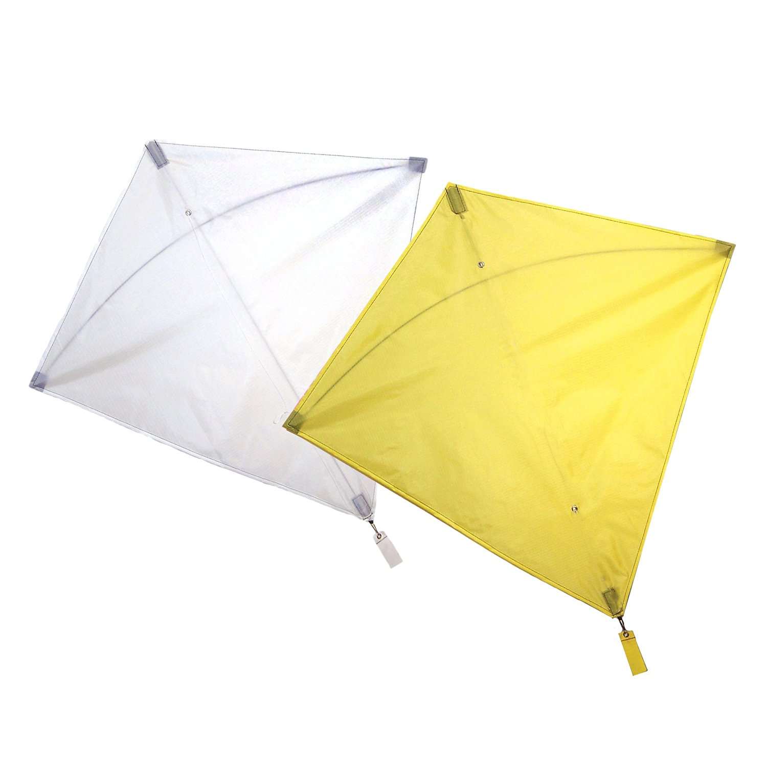 Maven Gifts: In The Breeze 2-Pack Kite Bundle – 30-Inch Yellow Colorfly Diamond Kite with 30-Inch White Colorfly Diamond Kite – Great for Beginners and Kids