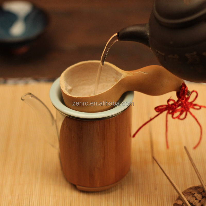 Original Wood Tea Collection Handmade Natural Calabash Tea Filter