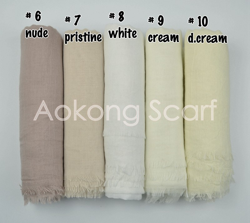 Women latest hijab designs 60 colors hijabs shawls long muslim frayed cotton blend plain voile hijab
