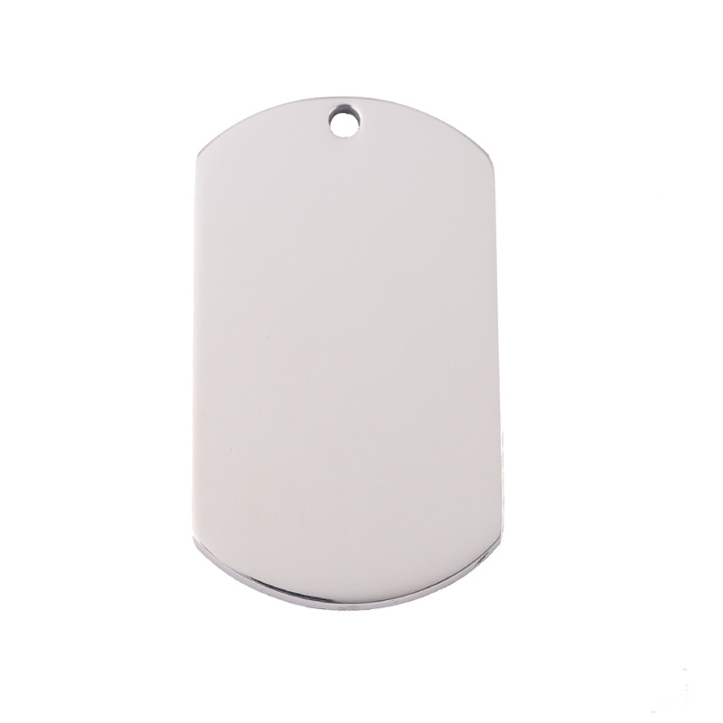 Blank Stampable Stainless Steel DogTag Pendant Steel Blank Metal <strong>Charms</strong>