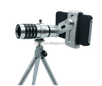 New 12 x Zoom Telescope for iPhone/6/5/4 Samsung Optical Mobile HD Phone Lens Long Focal Camera Universal with Tripod Holder