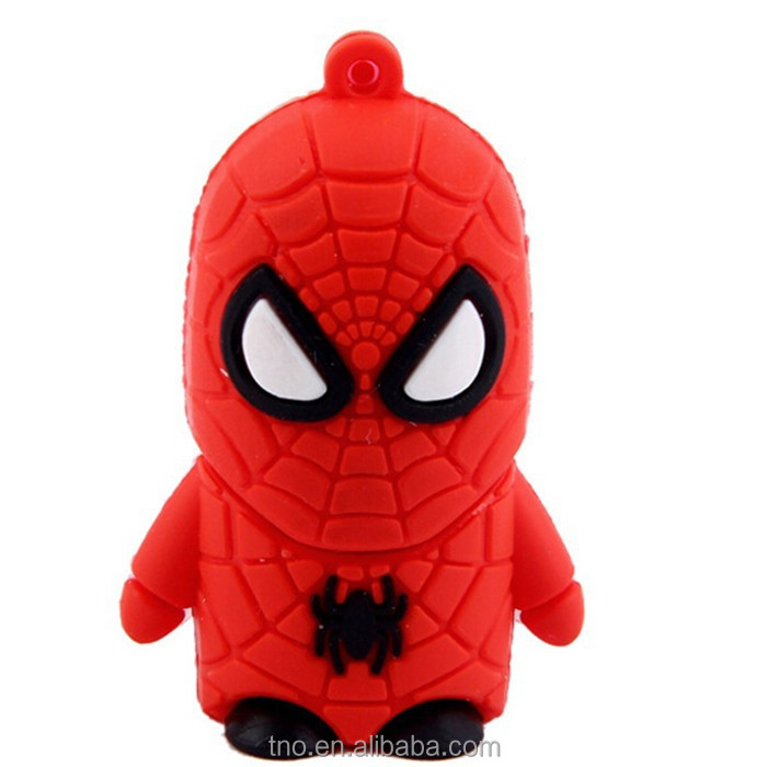 Promotion gift super heros flash drive spider man usb stick 4gb8gb16gb