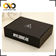 Custom brand printing black hard aircraft paper box for clothing packaging