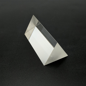Factory direct sale crystal triangle quartz optical glass equilateral prism