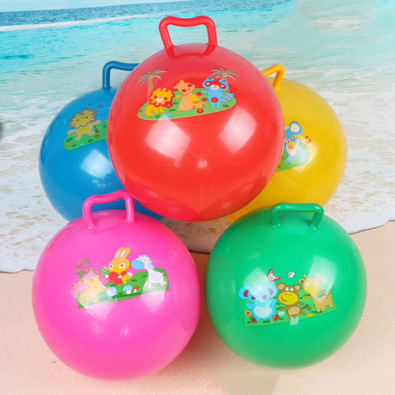 Sport Toys Kids Women Inflatable PVC Space Hopper Jumping Ball With Handle