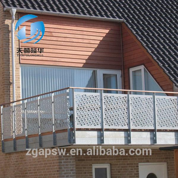 Tylh barandilla de chapa perforada en balcones malla de - Mallas de hierro ...