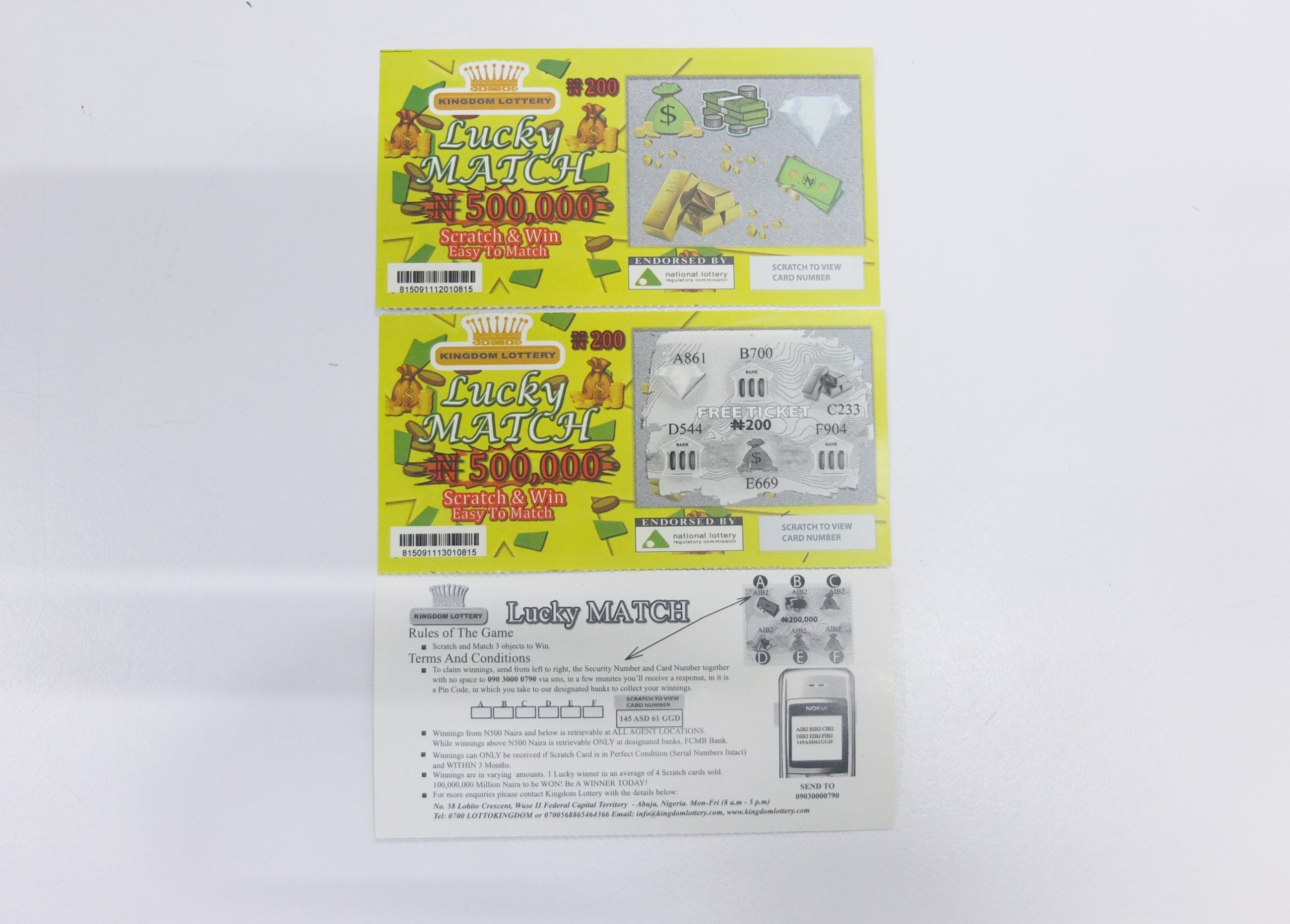 Printing lucky card scratch off lottery tickets & paper lottery scracth card