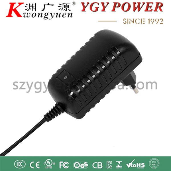 EUR plug AC/DC 12V2A adapter with 5.5*2.1mm DC plug for camera