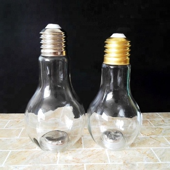 385ml Special LED Light Bulb Shaped Bottle With Plastic Stopper