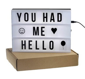 A4 Small Led Light Letter Box Gliving Retro Cinematic Light Up Your