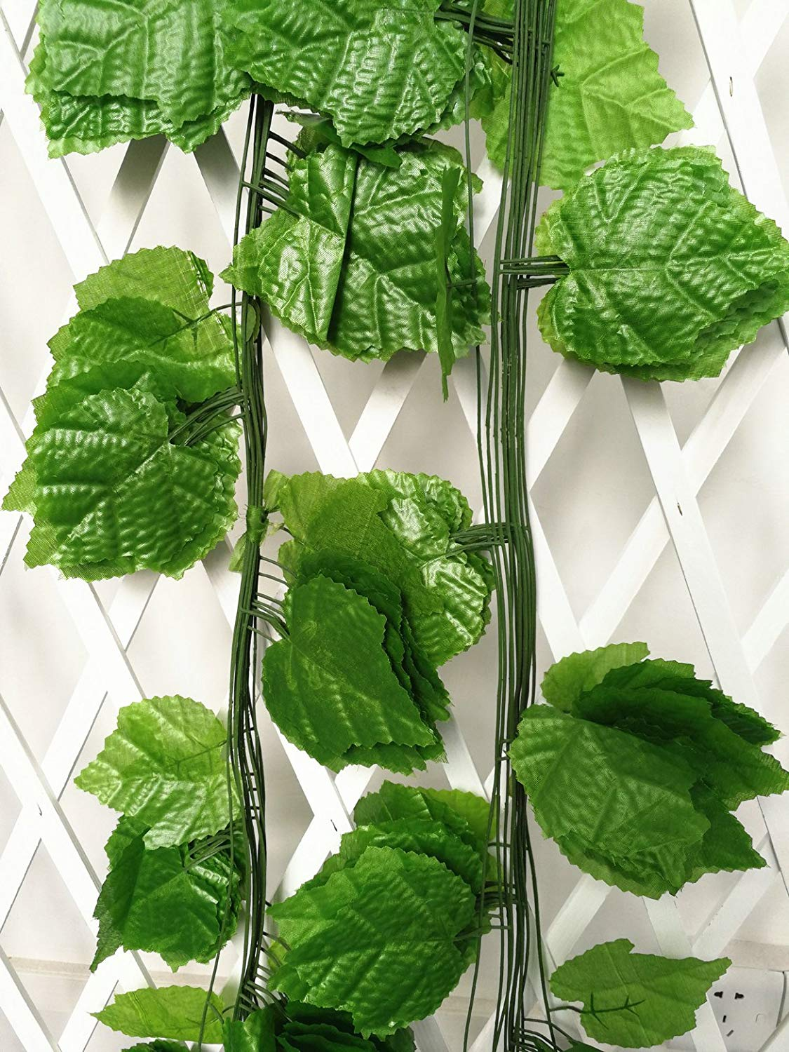 ShinyBeauty artificial vines with leaves artificial ivy panel artificial vines with leaves and grapes 96 Ft - Pack of 12