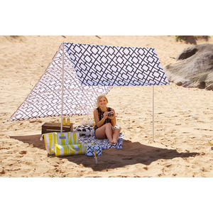 Beach Leisure Cottage Tent , Kids Pop Up Sun Shade Beach Tent