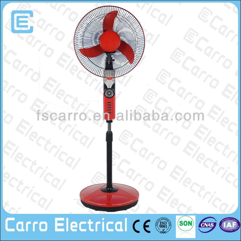 16 inch 12v best brand electric stand fan box fan with stand DC-12V16H