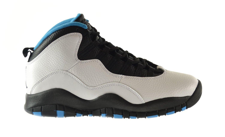 Get Quotations � Air Jordan Retro 10 Men\u0027s Shoes White/Dark Powder Blue- Black 310805-106