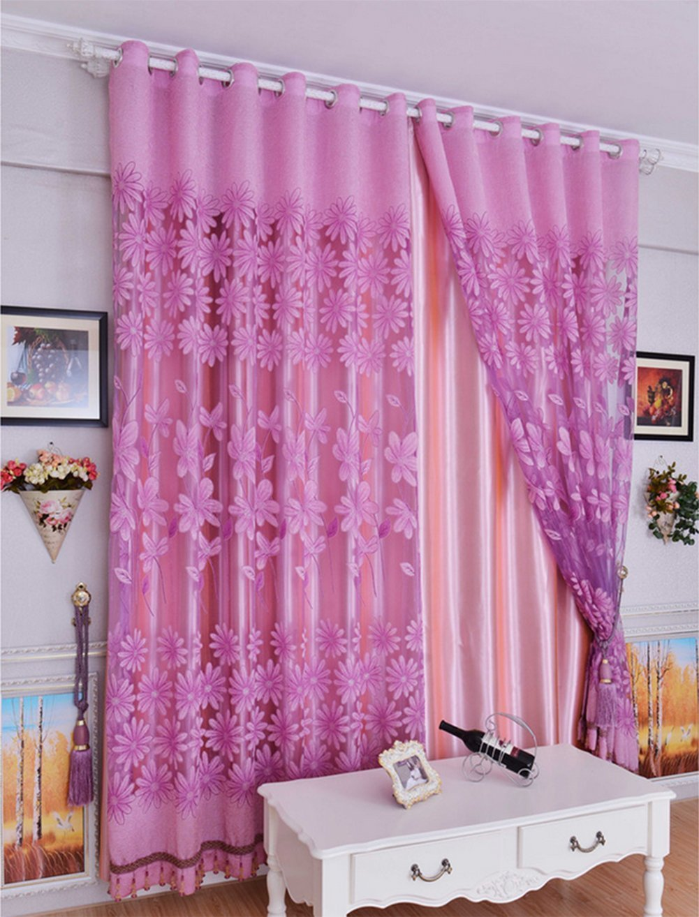 voile sheer willow floral tulle at curtain line quotations guides room on valances light deals com drapes cheap print pink get scarf panel find purple shopping freedi alibaba