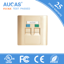 High quality network face plate for rj45 cat6 keystone jack and cat5e keystone jack low price