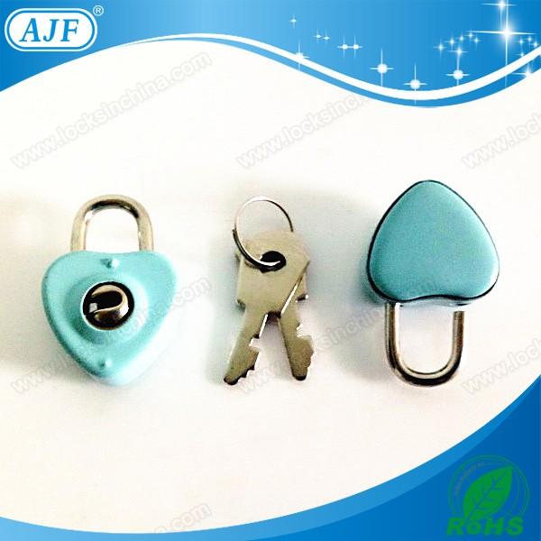 AJF 2015 hot sale colorful mini key diary lock heart, notebook lock