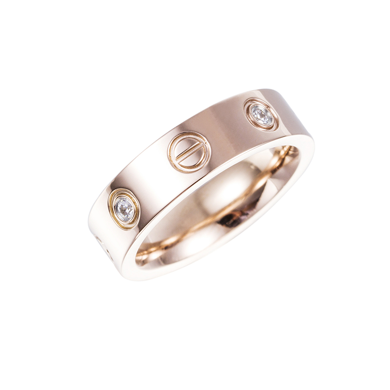 Rose Gold Cubic Zicona Rings for Women and Men wedding Rose Gold
