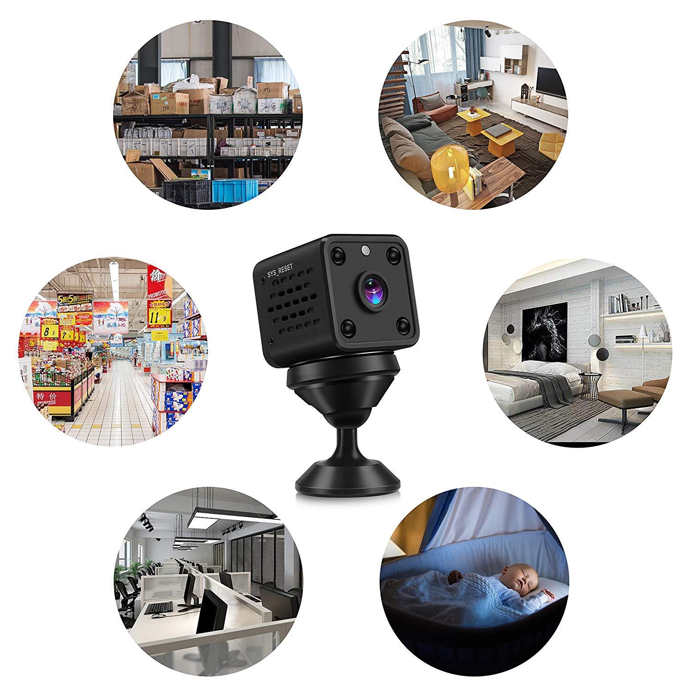 Mini Macchine Fotografiche WiFi HD di Sorveglianza della Macchina Fotografica di Rilevazione di Movimento di IR Versione di Notte 1080P / 720P / 640P / 320P Telecamera di Sicurezza Nanny