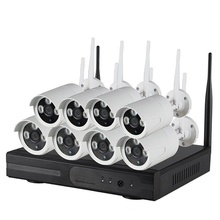 Wifi Nvr Kit <span class=keywords><strong>CCTV</strong></span> Security Systems Wireless 8CH NVR Kit 720 P WIFI Telecamera ip con P2P