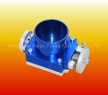 Aluminium racing universal Blue engine intake system valve Throttle Body 80mm