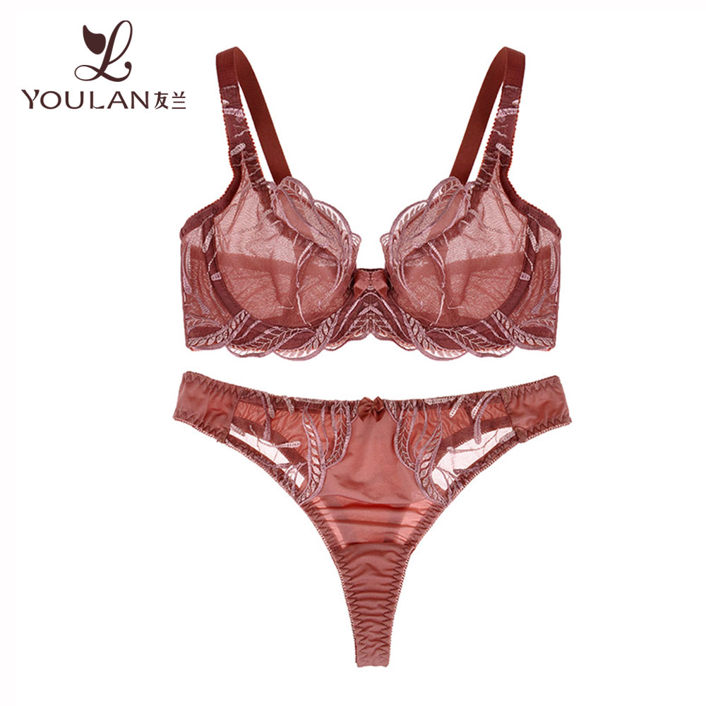 Customized Comfortable Elegant Dropshipping Bra And Panty Pink