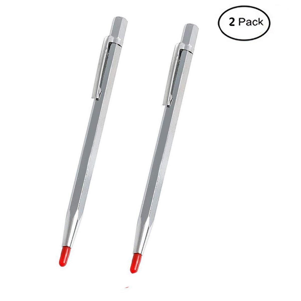 2 Pack Tungsten Carbide Scriber with Magnet Aluminum Etching Engraving Pen with Clip for Glass//Ceramics//Hardened Steel by Fabcell