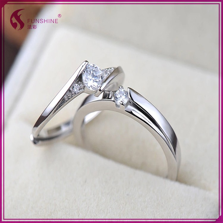 2017 New Design Cheap Price Wholesale Fashion Silver Wedding Ring