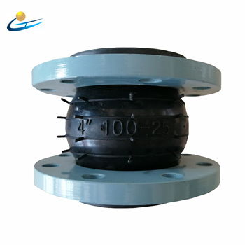 4inch soft connection single sphere galvanized flange rubber expansion joint/flexible rubber joint