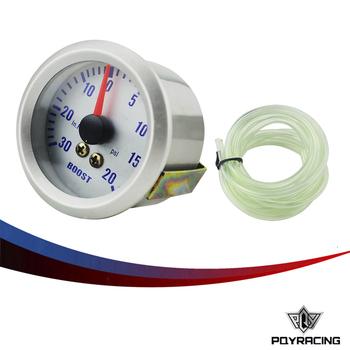 Pqy Racing Silver Car Universal Pointer 2 52mm Bar Turbo Boost Gauge