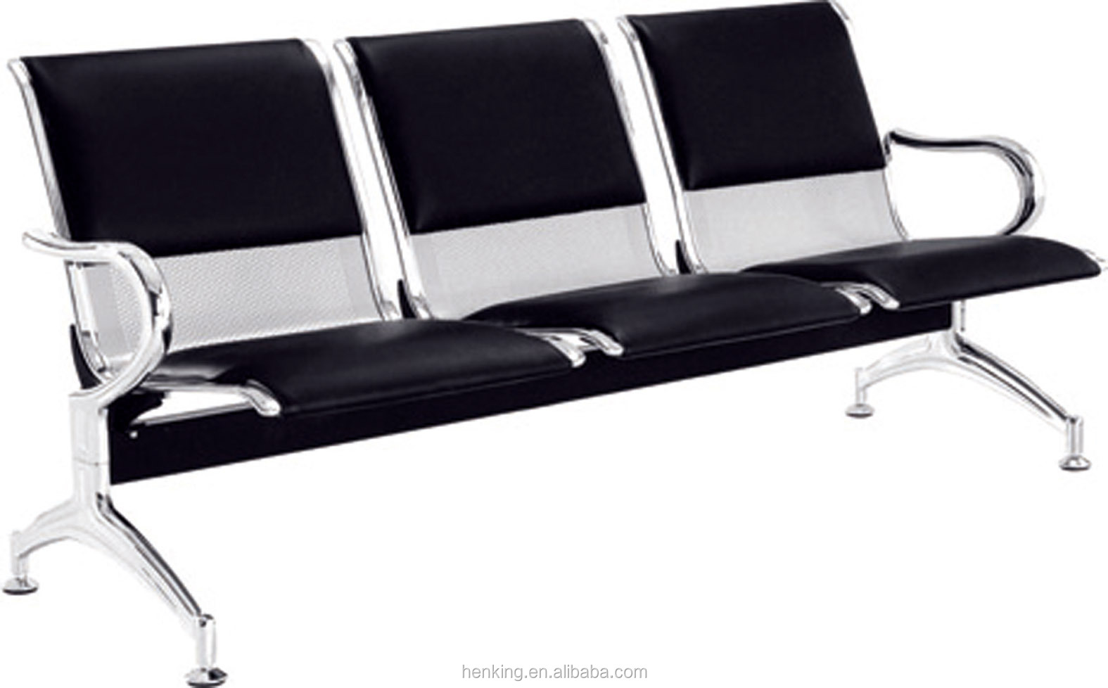 Waiting Room Metal Steel 3 Seater Airport Chair H303 3p