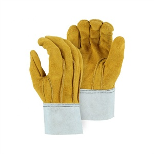 Comfortable Anti Heat Fireproof Durable Cow Leather Welder Welding Gloves