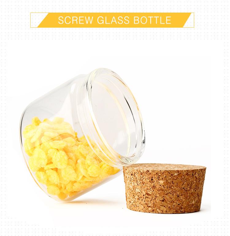 Embalagens garrafa de açafrão pequeno frasco de vidro com tampa de cortiça