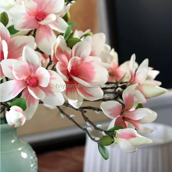 Newest Design Magnolia Flowers Home Wedding Decoration Real Touch Artificial Flower