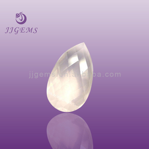 pink gems/ pear shaped glass gemstone beads