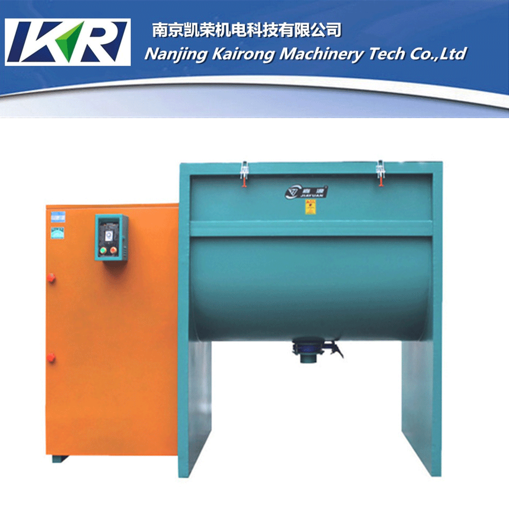 Plastic Horizontal Feed Mixer/Double Ribbon Blender/Drum Mixers For Making Plaseic Pellets and Gruanules