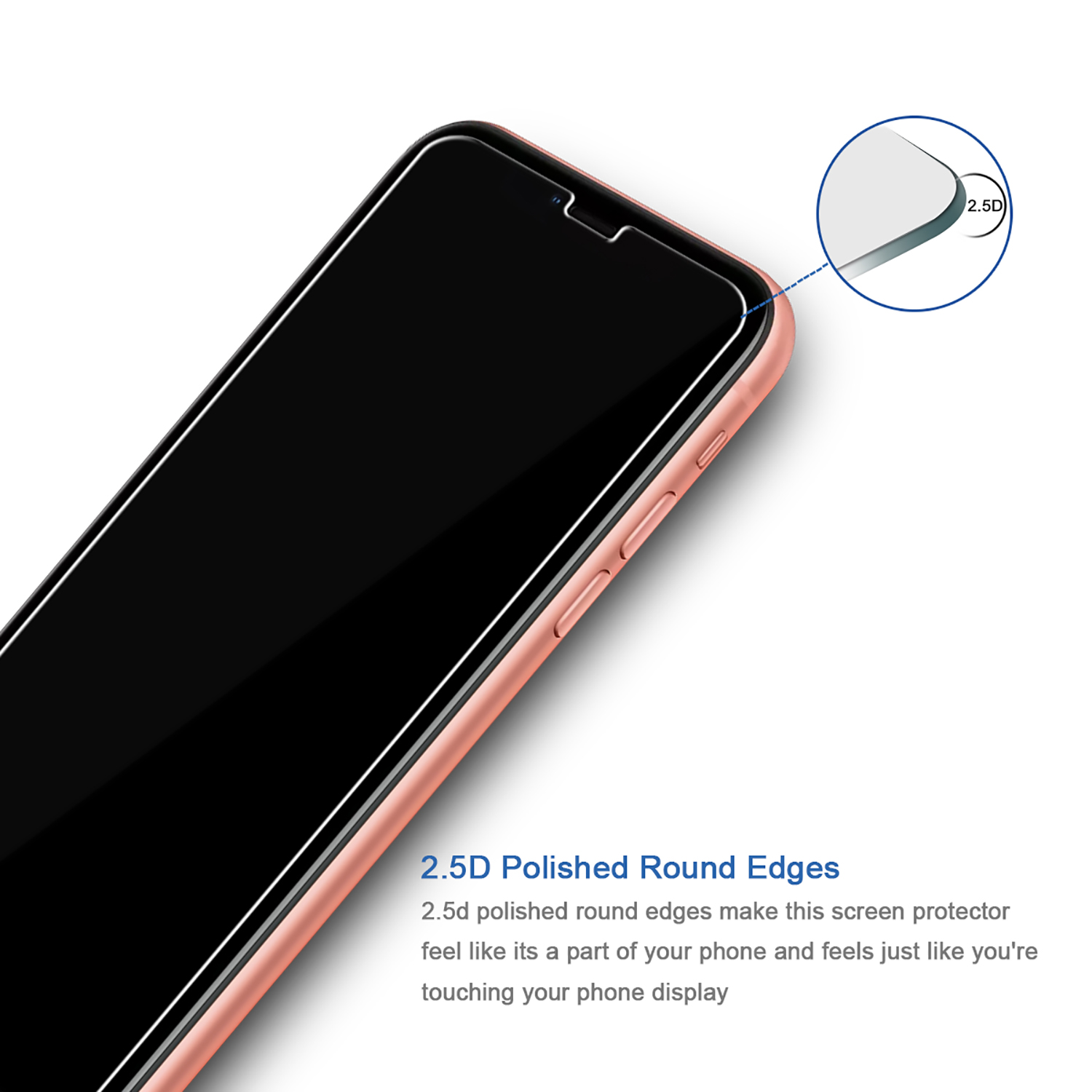 9H 0.33mm anti shock matte screen protector 2.5D curved tempered glass wholesale for iPhone XR