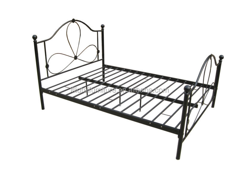 new design doublequeen size white platform metal bed