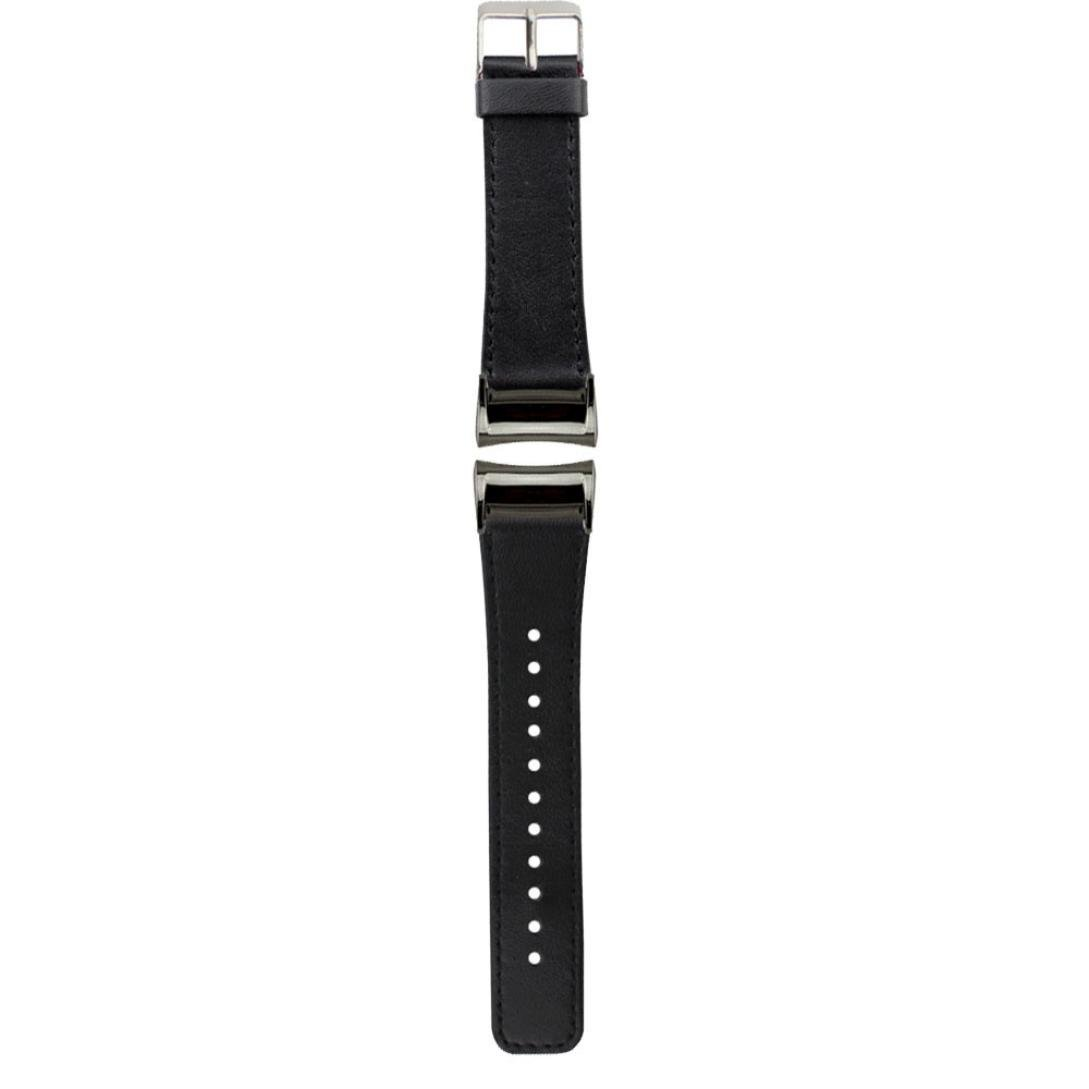 For Samsung Gear Fit 2 SM-R360 Wristband,Binmer(TM) Leather Replacement Watch Band Wrist Strap + Adapter (Black)